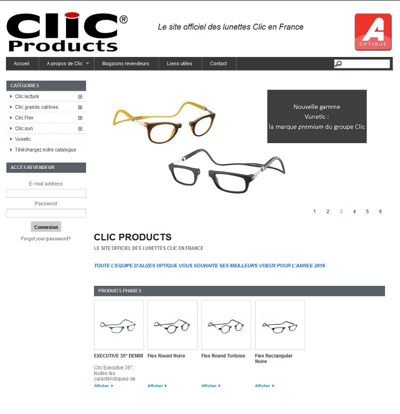 Référencement / SEO des lunettes clic