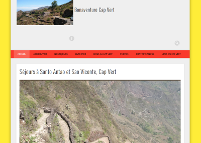 Voyage cap vert - agence web