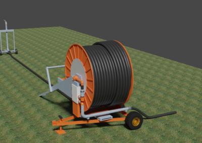 Enrouleur agricole, modélisation 3D
